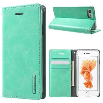 Image of   iphone 7/8 Simple Classic Blue Moon Card Slot Wallet Leather - Mint Grøn / under updatering